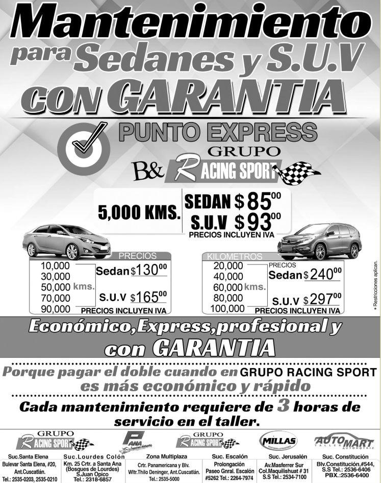 oferta servicio de mantenimiento por kilometraje para tu auto - 30ene15