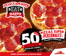 por tiempo limitado EAT HAPPY by pizz hut discounts - ene15