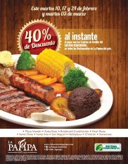 40 OFF restaurant LA PAMPA gracias a sistema fedecredito - 10feb15