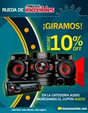 CUPONES descuento en audio LA CURACAO online - 09feb15