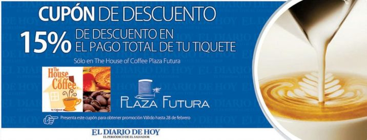 Descuento 15 OFF The house of coffee