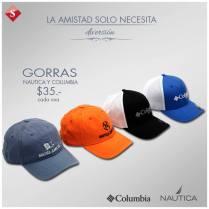 GORRAS nautica y columbia ofertas SIMAN - 07feb15