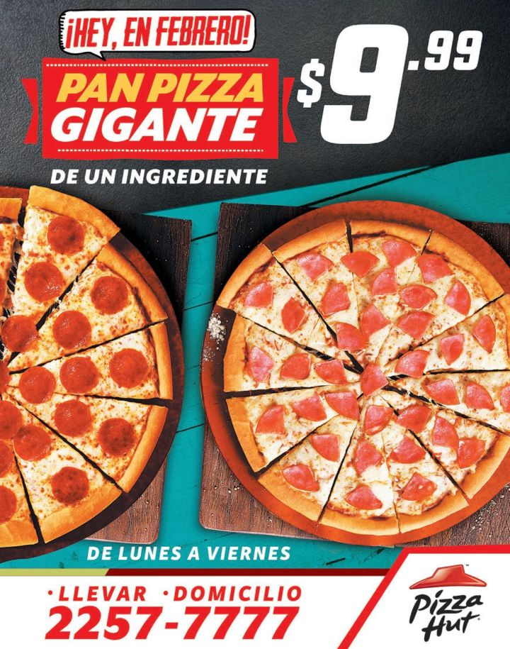 Hey en febrero PROMOCION pizza hut amigos amistad - 10feb15