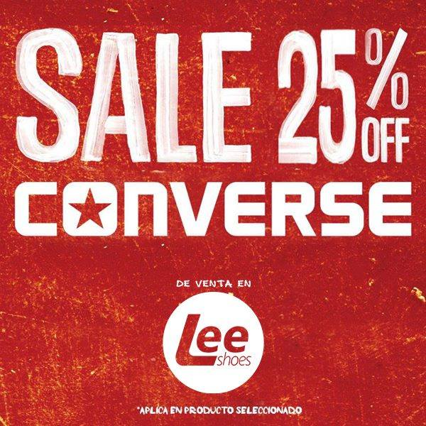 Lee shoes promociones SALE 25 OFF en calzado CONVERSE - 17feb15