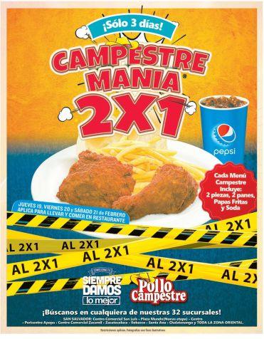 Mas pollo con 2x1 pollo campestre - 19feb15