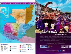 Nomenclatura GUATEMALA mapa turistico 2015