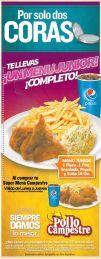 Promcoiones por 2 coras MENU INFANTIL pollo campestre - 09feb15