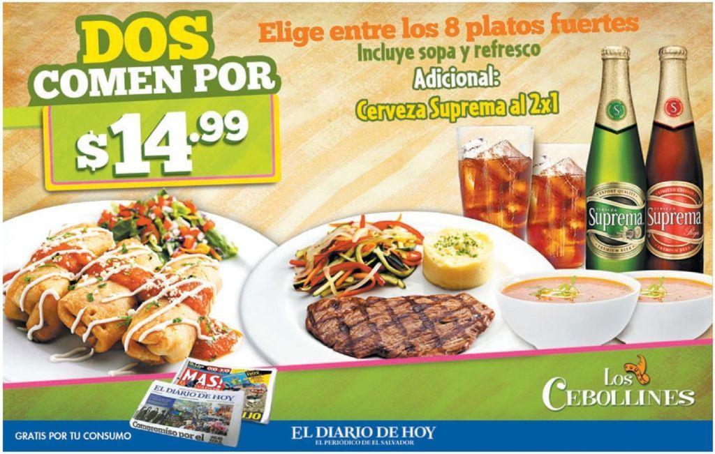 Promocion restaurante los cebollines DOS comen - 20feb15