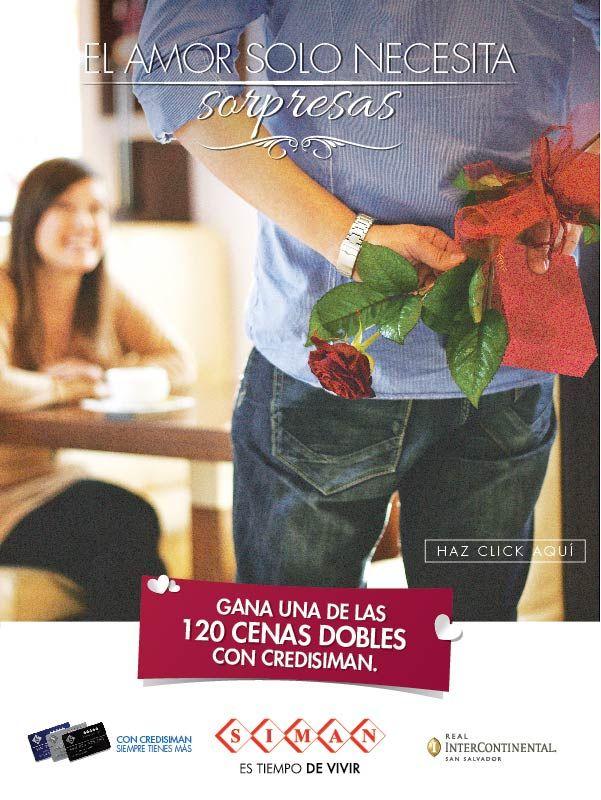 Promociones san valentin GANA una cena doble gracias a SIMAN
