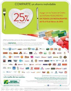 Restaurantes Semana de descuentos san valentin gracias tarjetas de credito - 09feb15