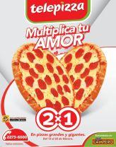 TELEPIZZA promo 2x1 multiplica tu amor - 13feb15