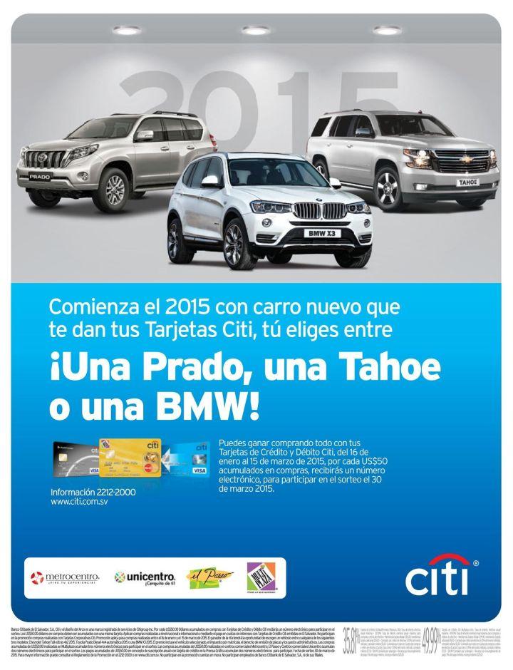 TOYOTA PRADO suv ganatela gracias CITI BANK - 02ene15