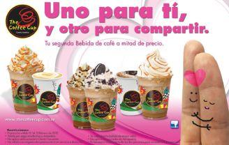 The coffee cup UNO para ti y otro para compartir 14 de febrero
