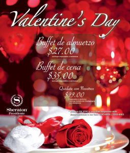 Valentines DAY celebration BUFFET resort SHERATON presidente