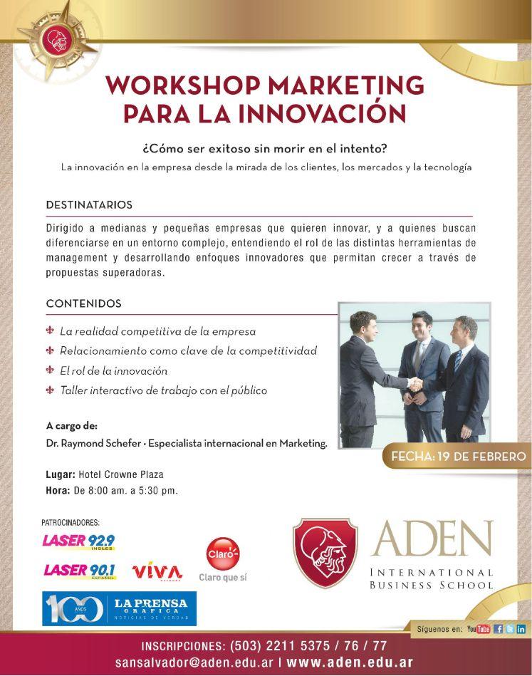 Workshop MARKETING for innovation by ADEN bisiness school