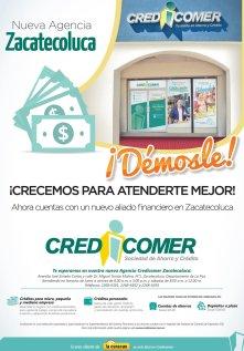 nueva agencia CREDICOMER zacatecoluca dinero y creditos