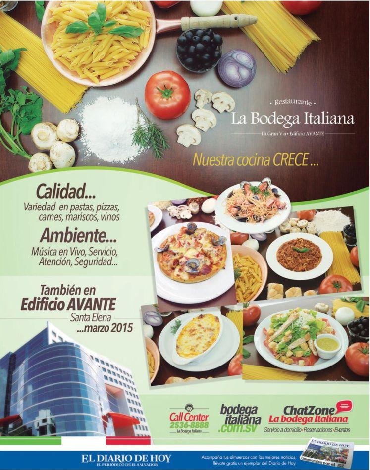 nueva sucursal restaurante BODEGA ITALINA edificio avante