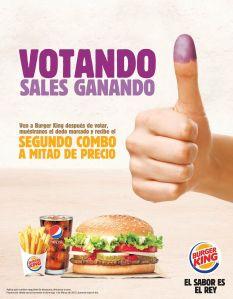 votando sales ganado con BURGER KING - 27feb15