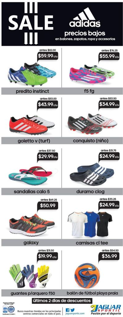 ADIDAS sandals and crocs ofertas Jaguar Sportic - 30mar15