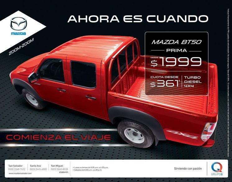 Ahora es cuando MAZDA zoom zoom turbo diesel 4x4 - 03mar15