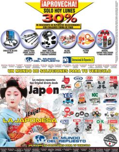 Aprovecha 30 OFF en descuentos repuestos japoneses - 23mar15