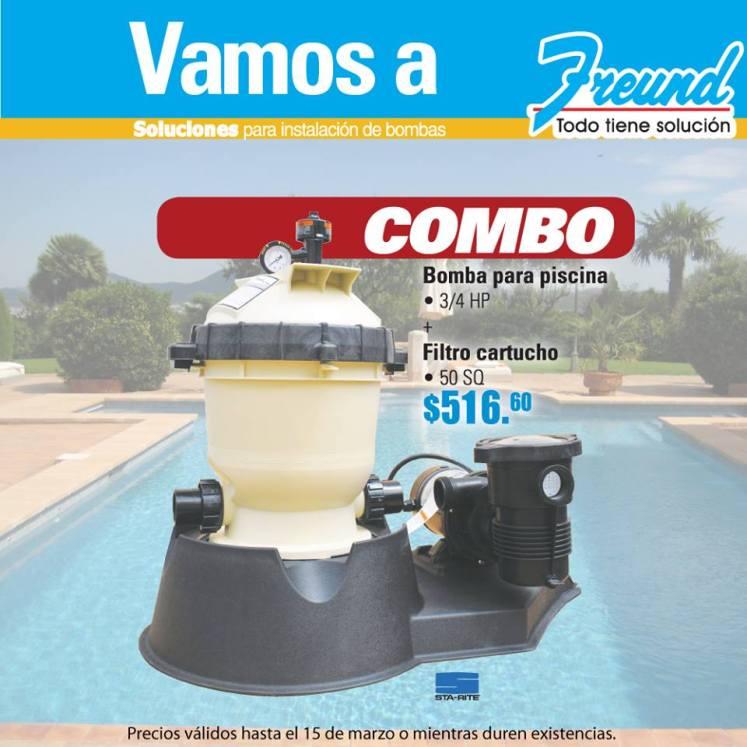 Bomba para piscina y filtro de caucho FREUND - 04mar15