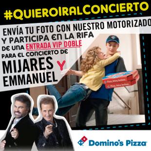 DOMINOS pizza te lleva al concierto de MIJARES y EMMANUEL