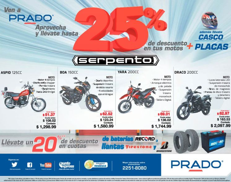 DRACO ASPID YARA BOA motos serpento via PRADO - 06mar15