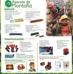 Equipo para rescate de montana BOMBEROS cuerpos de socorro CRUZ ROJA