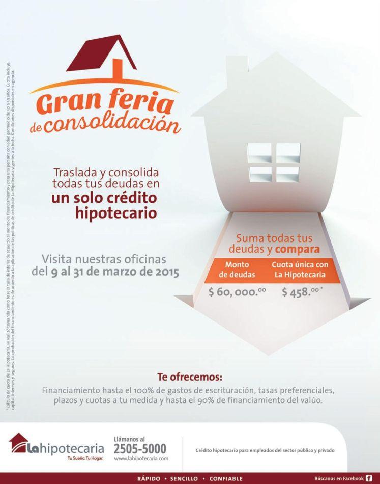 Feria de consolidacion de deudas en un solo credito