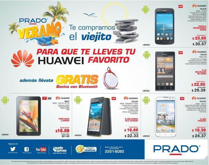 Grandes promociones en CELULARES HUAWEI y Tablets en PRADO - 07mar15