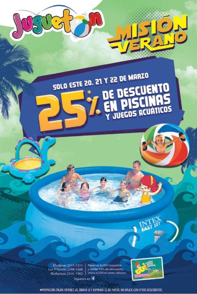 JUGUETON mision verano descuentos en piscinas y accesorios - 20mar15
