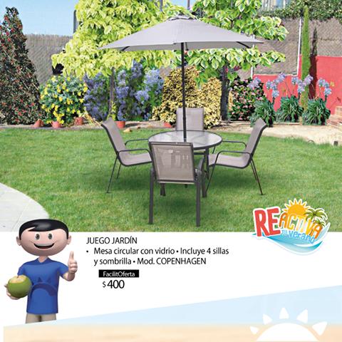 Juego de mesa de jardin mesa circular y de vidrio for Ofertas mesas de jardin