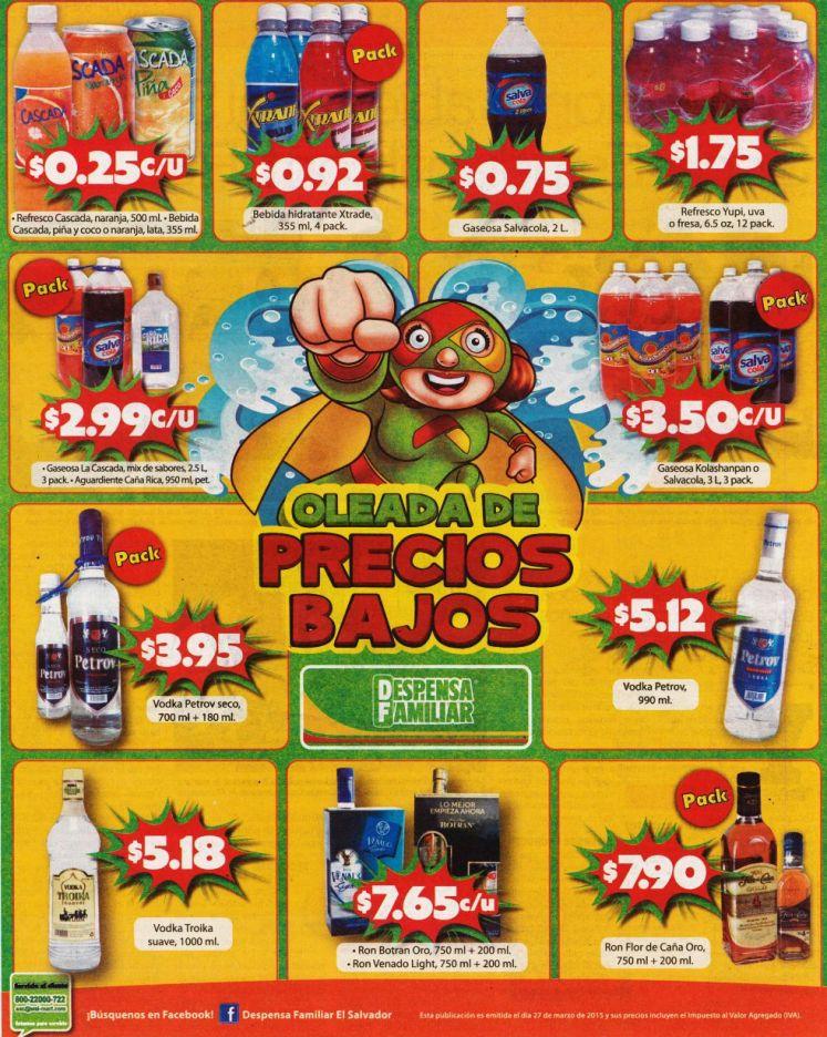 Jugos gaseosas vodka ron botran ron flor de cana OFERTAS - 27mar15
