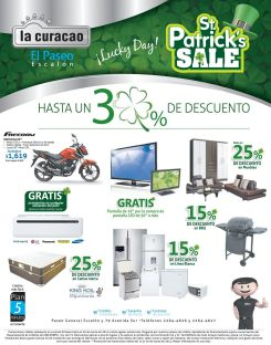 LA CURACAO promotions St Patrick DAY SALE - 13mar15