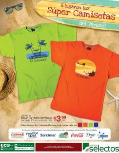 Llegaron las camiseta de verano 3.99 gracias a SUPER SELECTOS