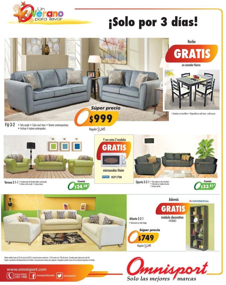 Muebles en promociones de verano OMNISPORT sv - 20mar15