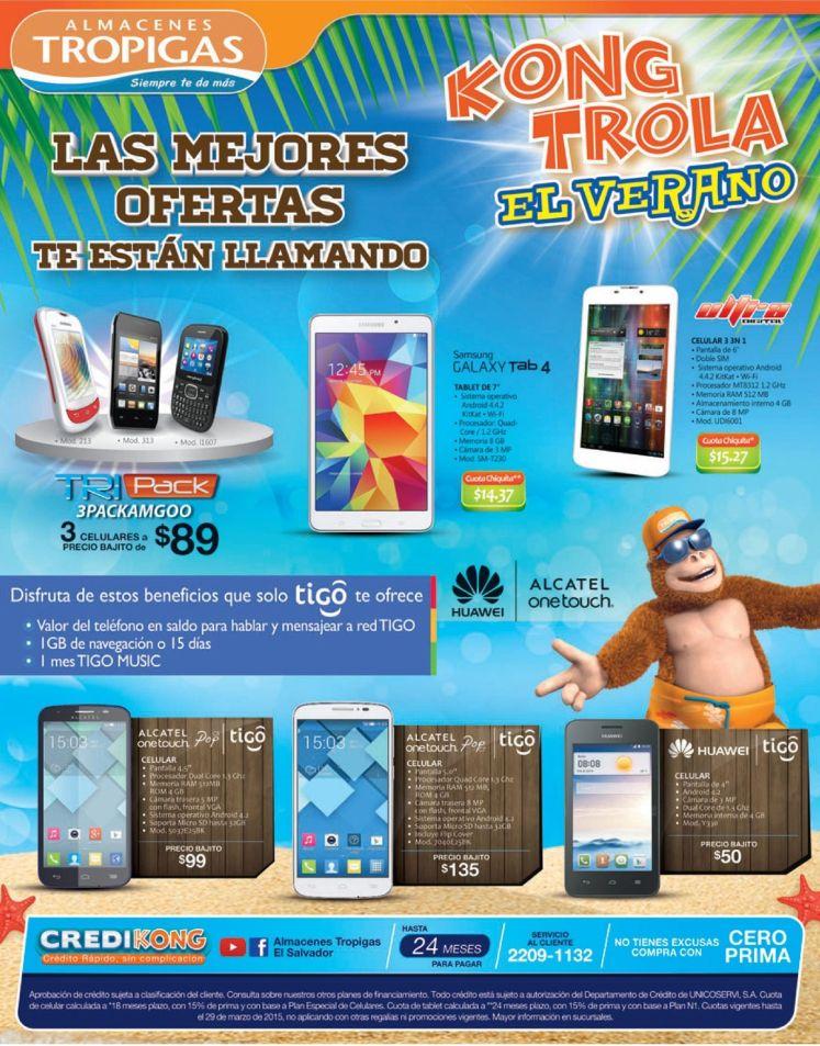 Ofertas en celulares gracias almacenes tropigas - 23mar15