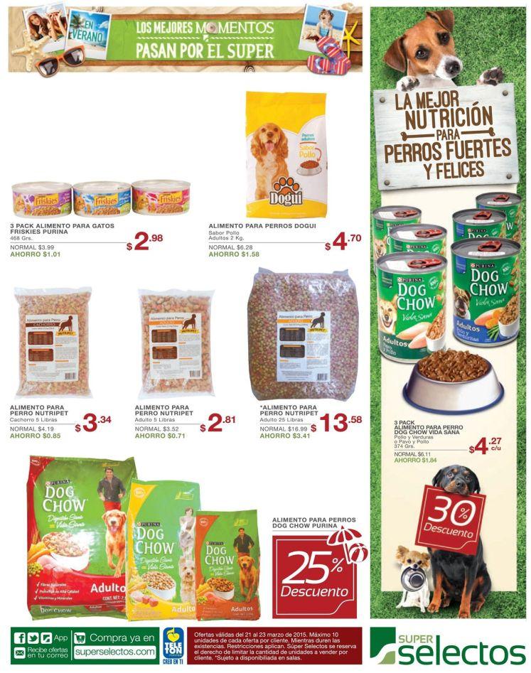 Ofertas productos y alimentos para perros en super selectos - 21mar15