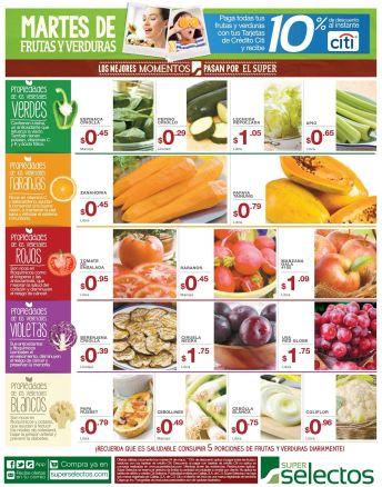 Propiedades de la frutas y verduras en tus comidas
