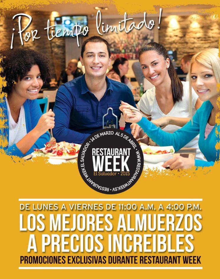 RESTAURANT WEEK Los mejores almuerzos a precios increibles