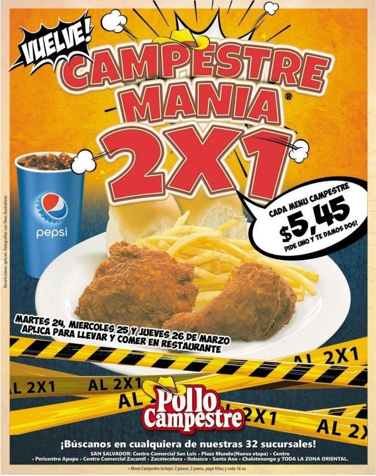 Regresa en semana santa CAMPESTRE mania 2x1
