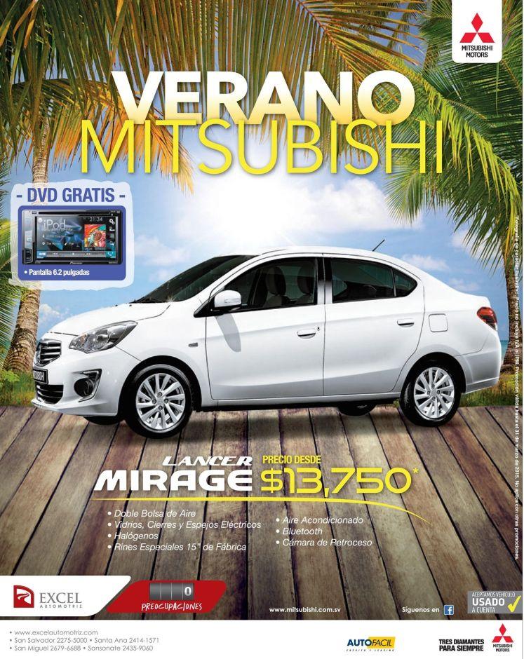 SUMMER promotion mitsubishi LANCE mirage