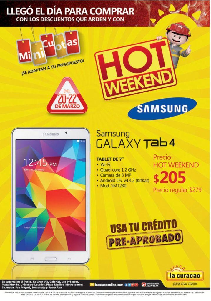 Samsung galaxy TAB4 precios HOT en lacuracao - 21mar15