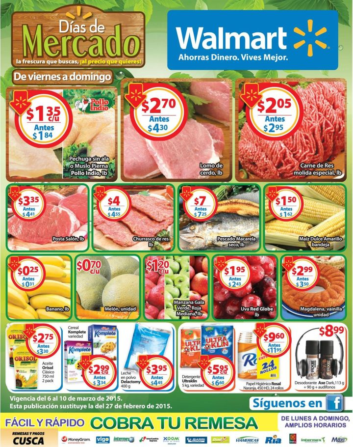 Sigue las mejores ofertas frescas de WALMART - 06mar15