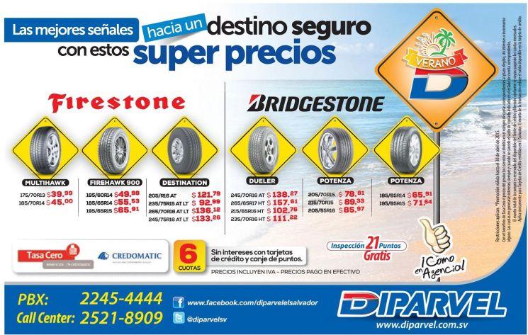 Super precios en llantas gracias DIPARVEL