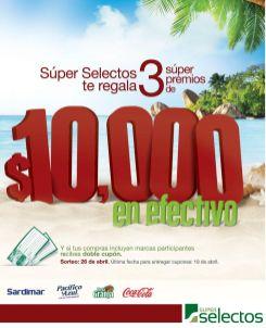 Super selectos te regala 3 premios de 10 mil dolares en efectivo