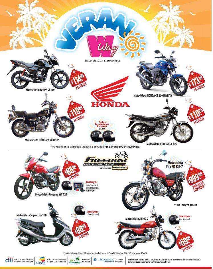 VERANO WAY muchas ofertas en MOTOS - 13mar15
