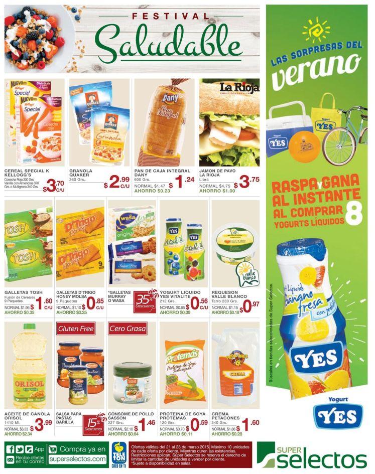 VErano saludable con yogourt YES ofertas selectos - 21mar15