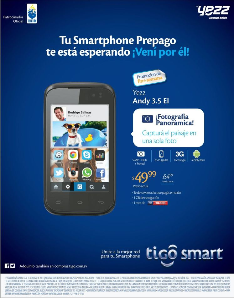 basic and cheaper smarphone YEZZ mobile - 13mar15